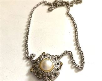 """$30 Necklace with pendant center.  17""""L"""