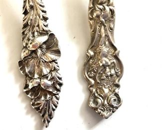 """$30 each detail .  Right and Left spoons: 5.2""""L; 1""""W"""