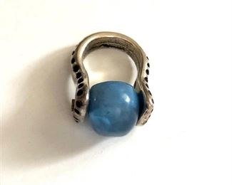 $25 Blue stone ring.  Size: 5