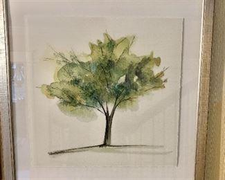 "$150 -  Kellogg Collection framed tree  print #1.  22"" H x22"" W."