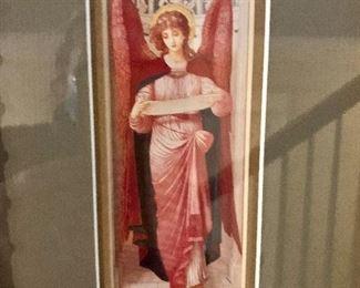 $75 Angel print framed #2 detail