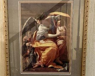 """$95 -  Framed angel print.  15.5"""" H x 12"""" W."""