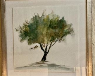"$150 - Kellogg Collection  framed tree  print #2.  22"" H x 22"" W."