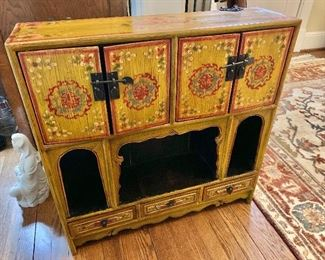 """$325 - Painted wall or floor chest with shelves and drawers -   28.5"""" H, 28"""" W, 7.5"""" D."""