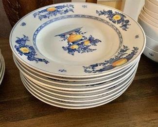"$180  - 9 shallow bowls each 9"" diam."