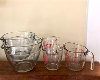 $60 LOT Pyrex cups of all sizes