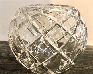"""$75 - Tiffany & Co. crystal bowl.  7"""" H, 8"""" diam"""