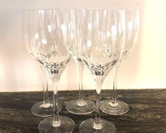 "$60 Set of 5 wine glasses -  Each  8.25"" H, 2.75"" diam."