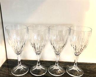 "$40 Set of 4 wine glasses.  Each  7.5"" H, 2.5"" diam."