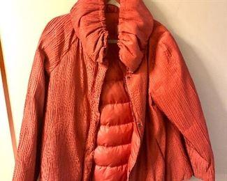 $95 Armani Collezioni orange jacket - Size 8