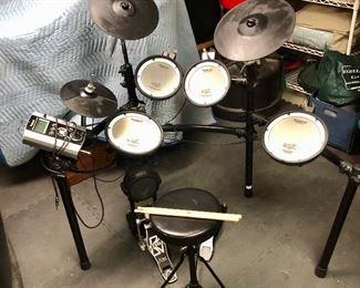 """$750 - Roland TD-8 electronic drum set - 49"""" H, 52"""" W, 26"""" D."""