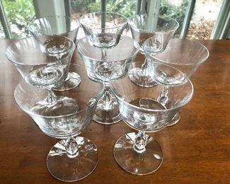 "$20 - Set of 8 glasses - each 5.25"" H, 4 "" diam."