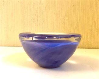 "$45 - Kosta Boda Brozen  vase.  4.5"" diam, 2.5"" H."