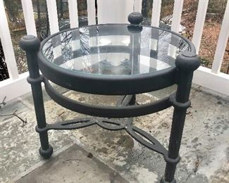 $150  each - Brown Jordan wrought iron side table #1  - 2 available