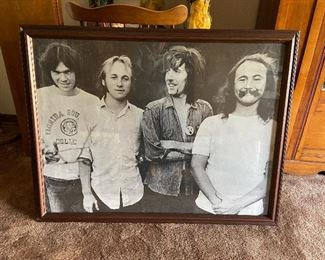 Early Crosby, Stills, Nash and Young - Large framed