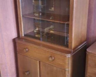 Vintage matching china cabinet