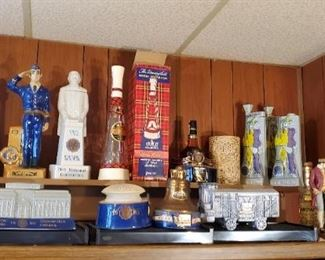Huge collection American Legion Decanters