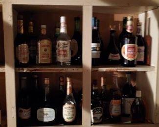 Old Variety Liquor Bottles