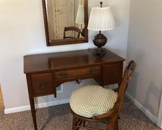 "Stickley desk 40""W x 21""D x 29""H and chair (chair and mirror sold) - $225 for the desk"