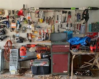 Car ramps, tool chest, hand tools and more