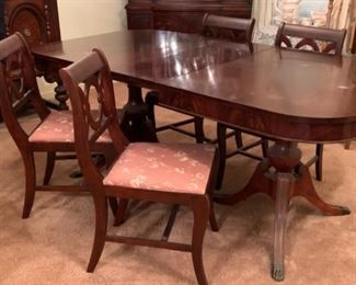 Claw foot dinning room set