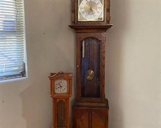 Grandfather and Grandchild Clocks