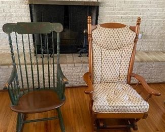 Wooden Rocking Chair and Glider