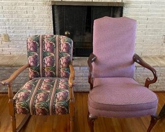Living Room Chairs and Rockers