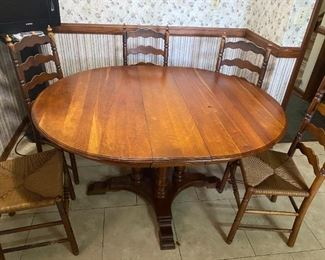 Kitchen Table and Ladder Back Chairs