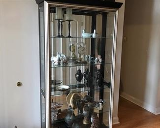 Lighted, side entry display cabinet. $500