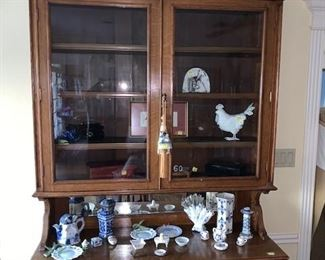 Antique French China Hutch