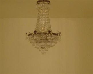 Elegant Drop Crystal Chandelier (Deco Era) pre sale item $ 975.00  10 light