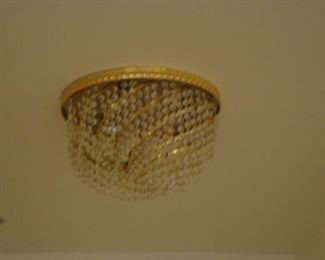 Ceiling Large Italian Crystal light fixture