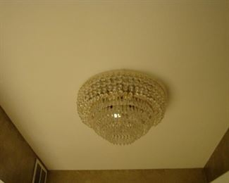 Stunning cascading Italian crystal ceiling fixture New was $759.00 Buy it Now $325.00