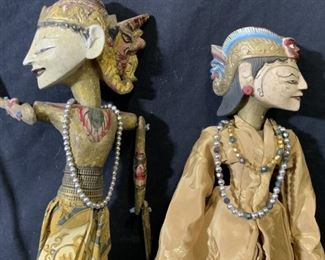 Pair Wayang Golek Indonesian Rod Puppets