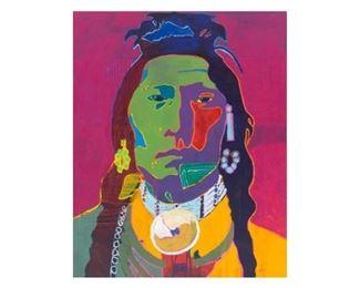 """John Nieto (1936-2018), """"Thundercloud"""", acrylic on canvas, 60 x 48"""", frame: 62 x 50"""""""