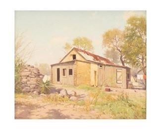 "Porfirio Salinas (1910-1973), Irish Flats, San Antonio, oil on canvas, 24 x 30"", frame: 37 x 43"""