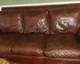 Quality Hancock & Moore Leather Sofa