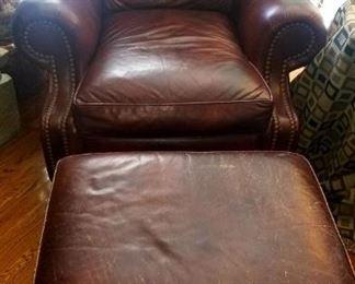 Hancock & Moore Chair and Ottoman