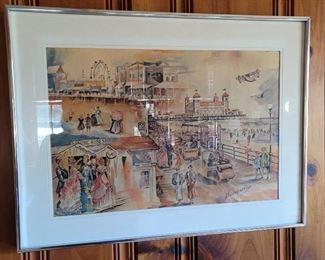 Vintage Boardwalk Scene by Hansberry