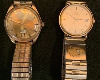 Men's Helbros  and Omega Illinois Bell 1984 30 yr anniversary watch w/state of IL and diamond on the band