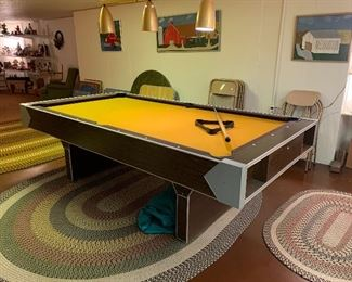 Pool table  & 3 Large area rugs