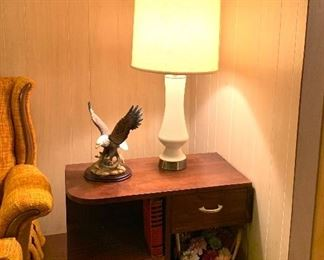 Vtg. side table and 2 matching  Mid Century lamps
