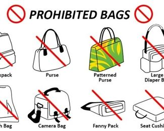 prohibitedbags NO BAGS ALLOWED