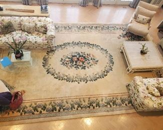 """""""Einstein Moonjy"""" special ordered in China  - Wool Rug 144"""" by 242""""."""