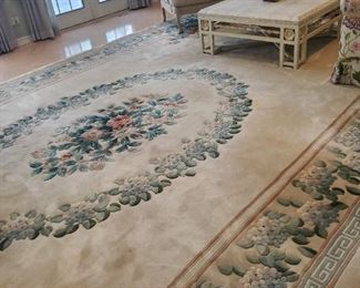 """Wool rug -  12' by 21', Designed and special ordered through """"Einstein Moomjy"""""""