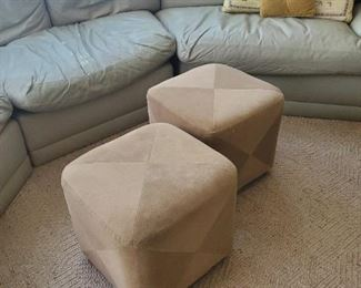 One custom covered Ottoman available