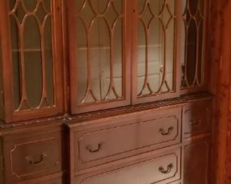 Mahogany China Closet  50L X 15 1/2D X 78 1/2H                located on lower level