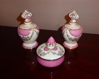 Antique Porcelain Dresser Set