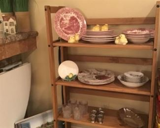 Lots of Placemats, Goebel Chicks, and Staffordshire Red China